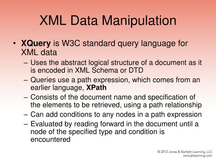XML Data Manipulation
