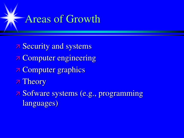 Areas of Growth