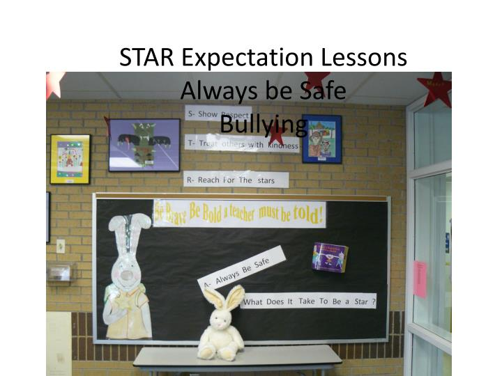 Star expectation lessons always be safe bullying