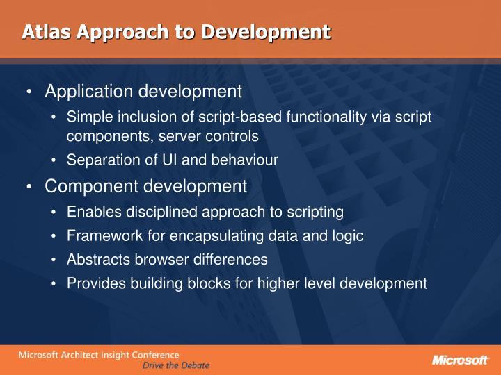 Atlas Approach to Development