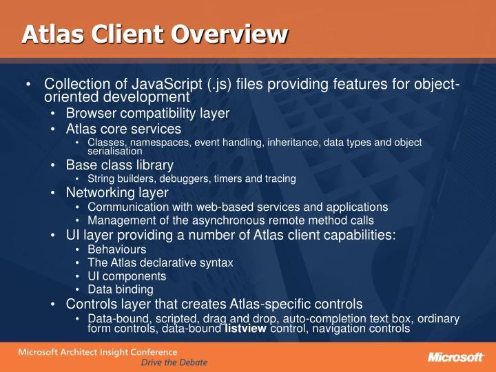 Atlas Client Overview