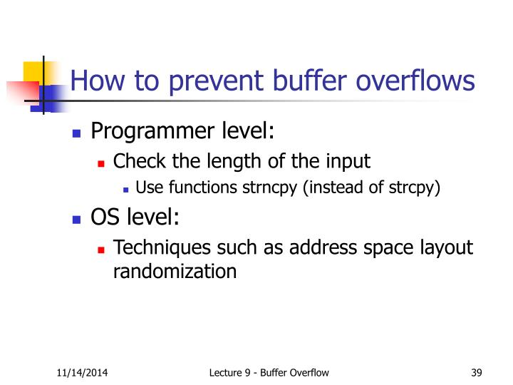 How to prevent buffer overflows
