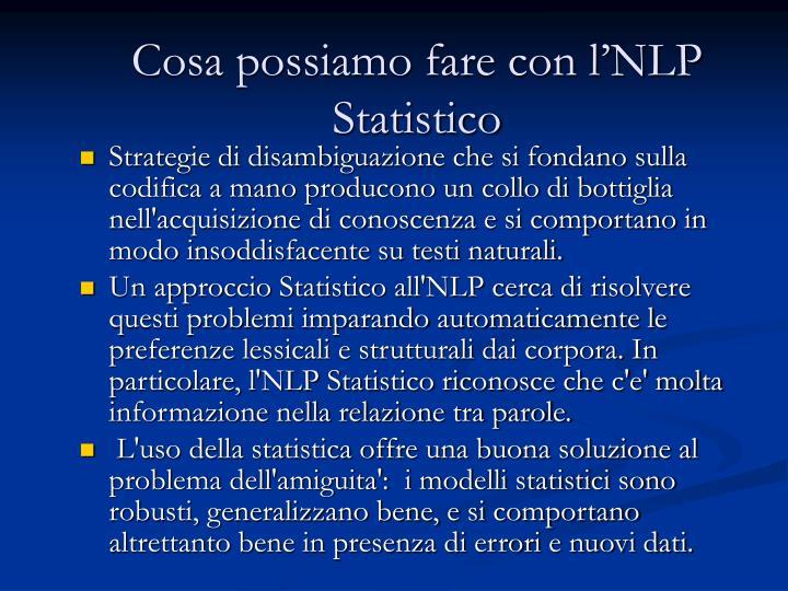 Cosa possiamo fare con l'NLP Statistico