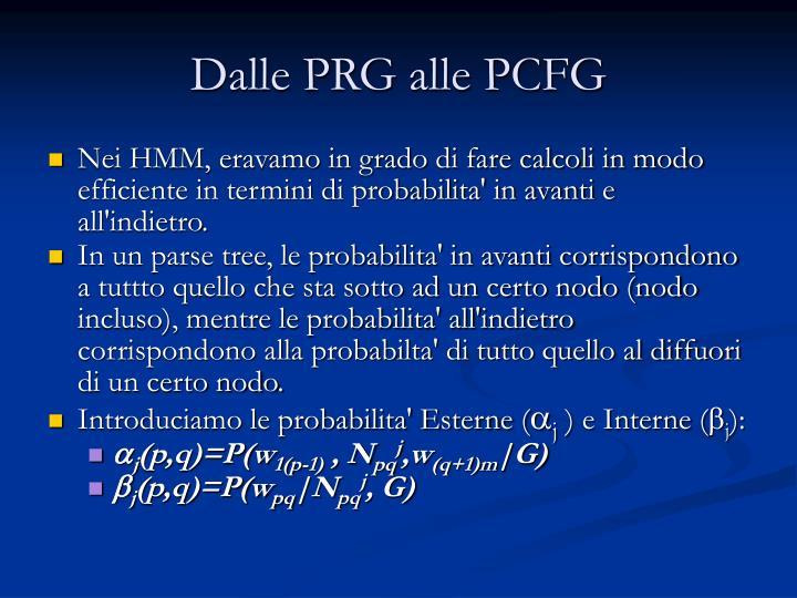 Dalle PRG alle PCFG