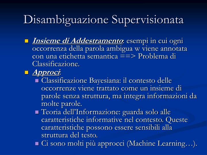 Disambiguazione Supervisionata
