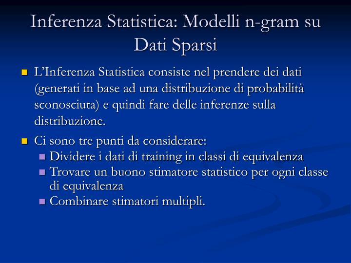 Inferenza Statistica: Modelli n-gram su Dati Sparsi