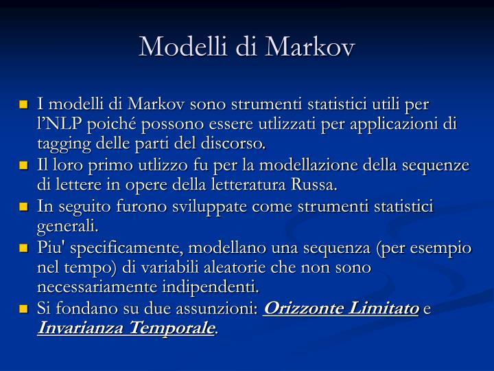 Modelli di Markov