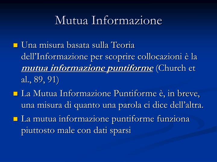 Mutua Informazione