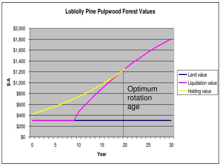 Optimum rotation age