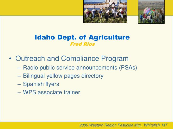 Idaho Dept. of Agriculture