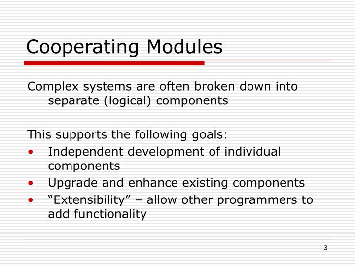 Cooperating Modules