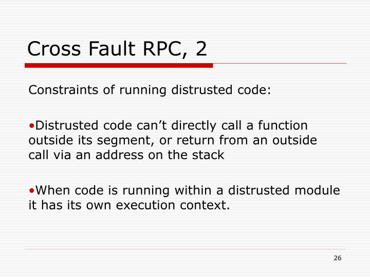 Cross Fault RPC, 2