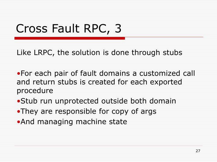 Cross Fault RPC, 3