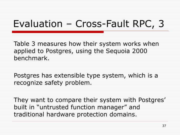 Evaluation – Cross-Fault RPC, 3