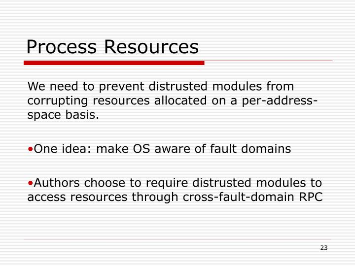Process Resources