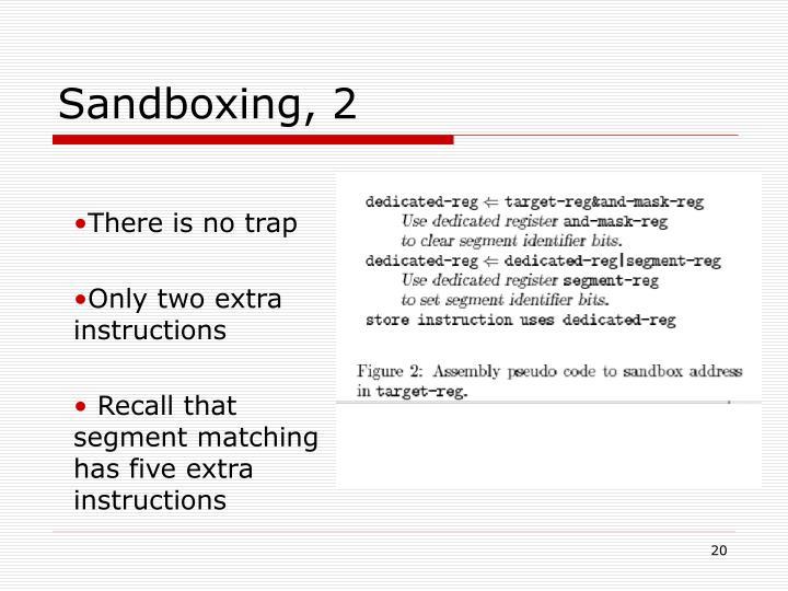Sandboxing, 2