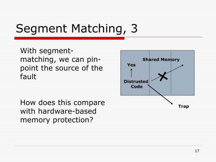 Segment Matching, 3