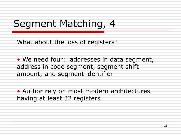 Segment Matching, 4