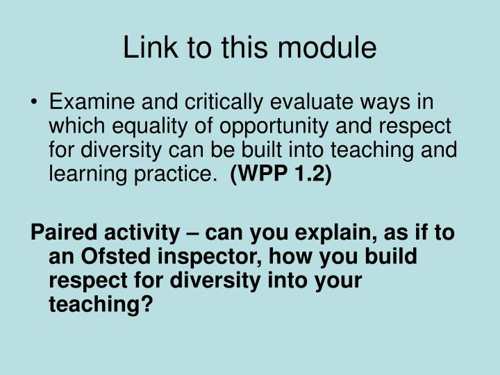 Link to this module