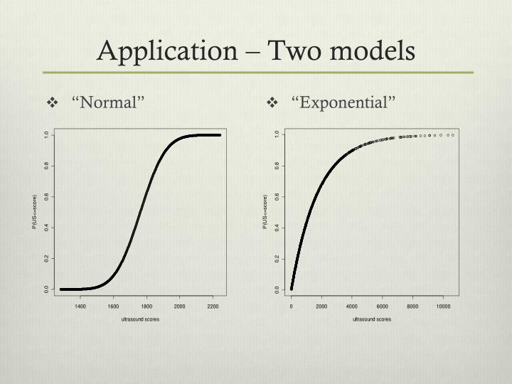 Application – Two models