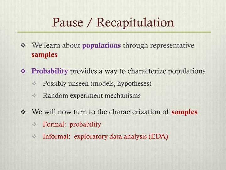 Pause / Recapitulation