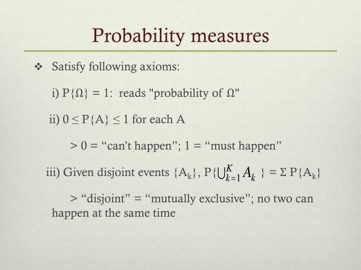 Probability measures