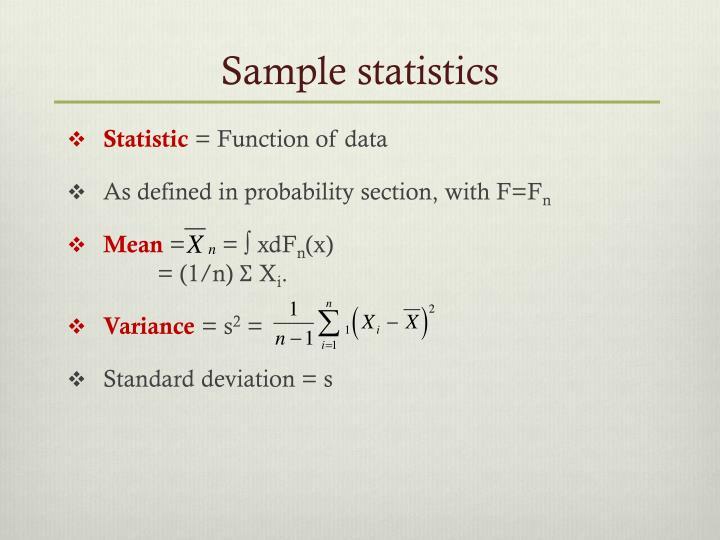 Sample statistics