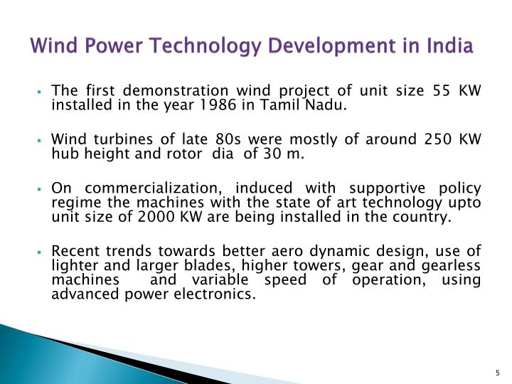 Wind Power Technology Development in India