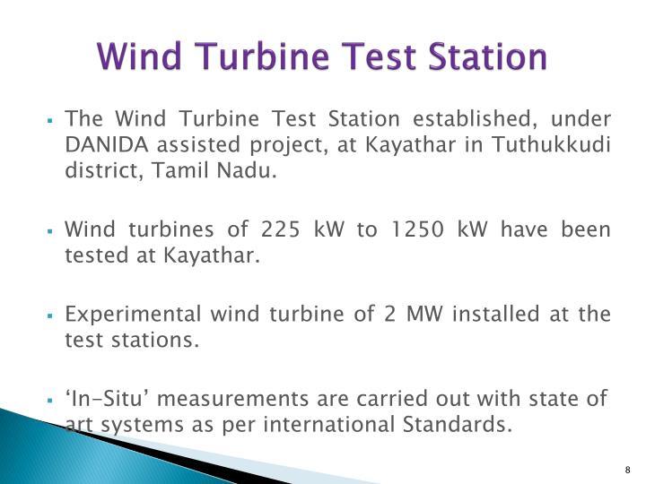 Wind Turbine Test Station