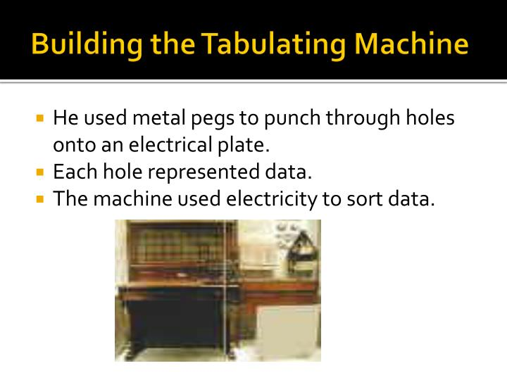 Building the Tabulating Machine