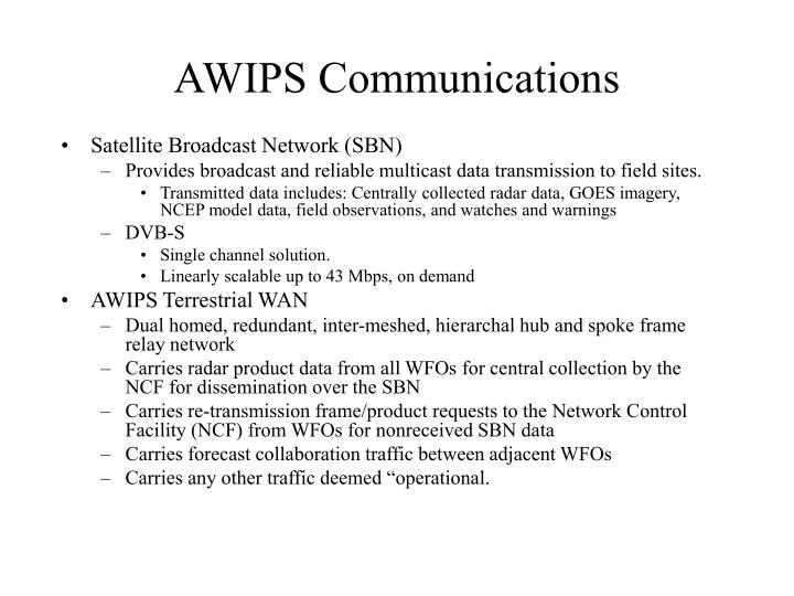 AWIPS Communications