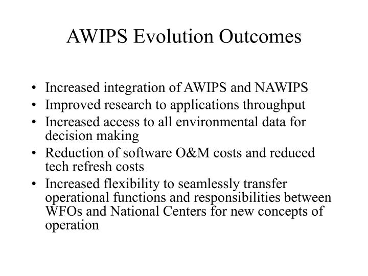 AWIPS Evolution Outcomes