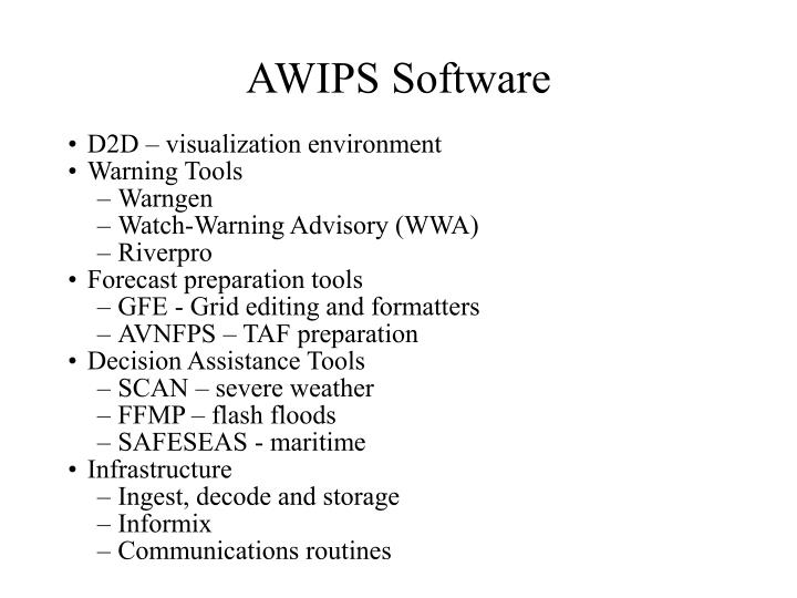 AWIPS Software