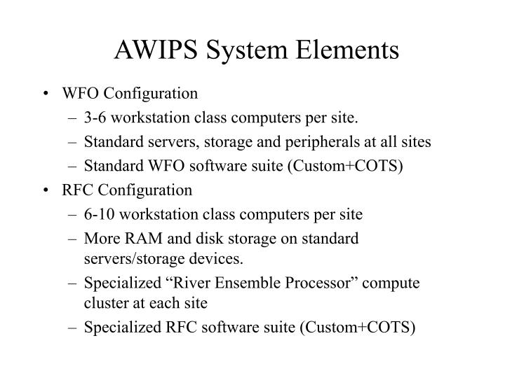 AWIPS System Elements