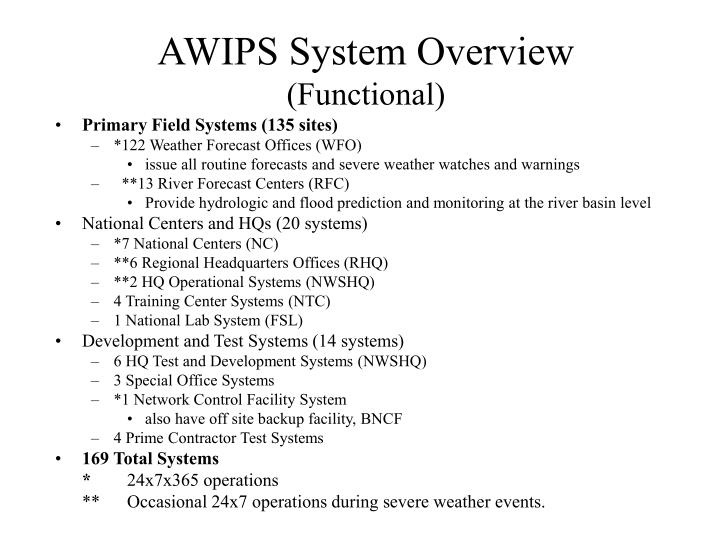 AWIPS System Overview