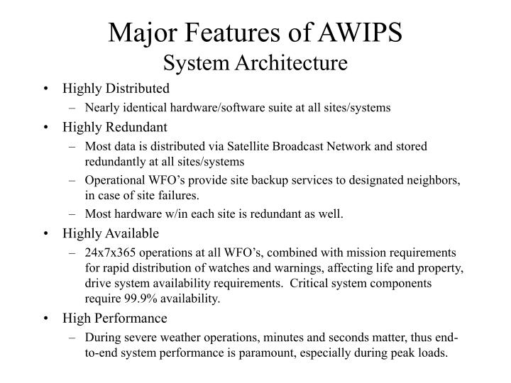 Major Features of AWIPS