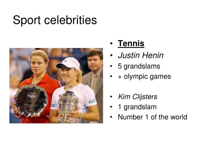 Sport celebrities