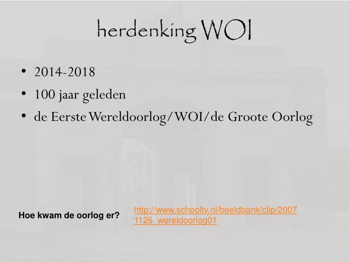 herdenking WOI