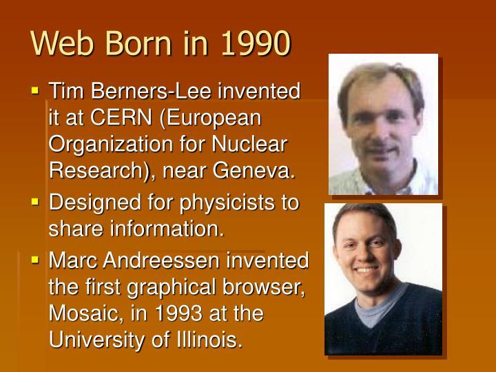 Web Born in 1990