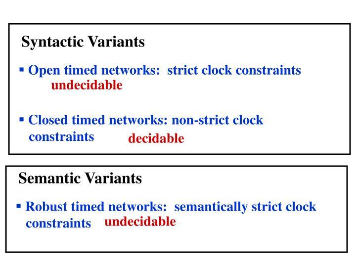 Syntactic Variants