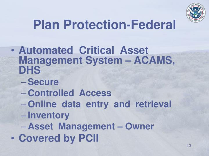 Plan Protection-Federal