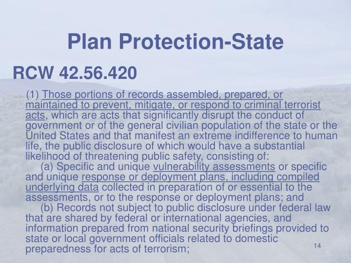 Plan Protection-State