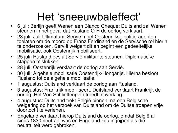 Het 'sneeuwbaleffect'