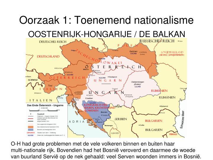 Oorzaak 1: Toenemend nationalisme