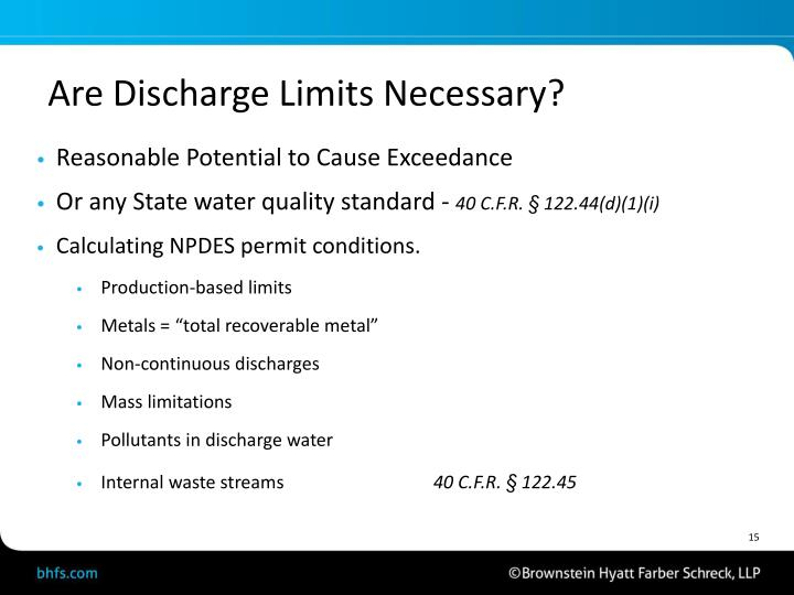 Are Discharge Limits Necessary?