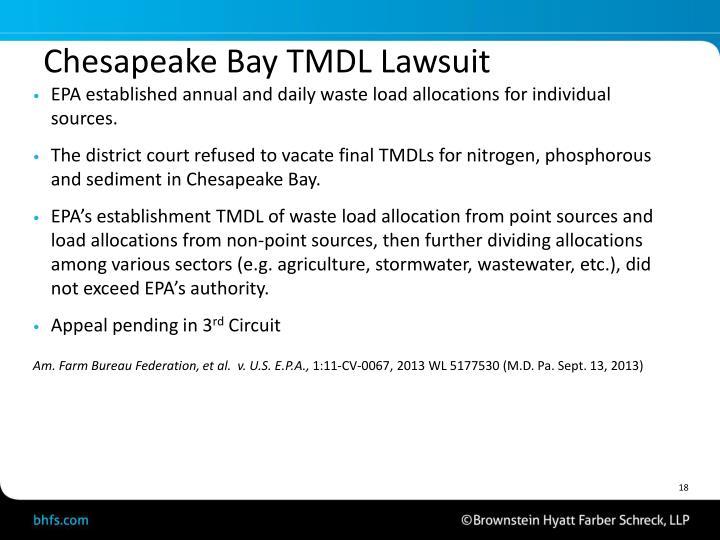 Chesapeake Bay TMDL Lawsuit