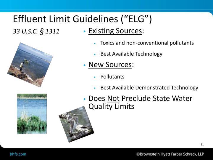 """Effluent Limit Guidelines (""""ELG"""")"""