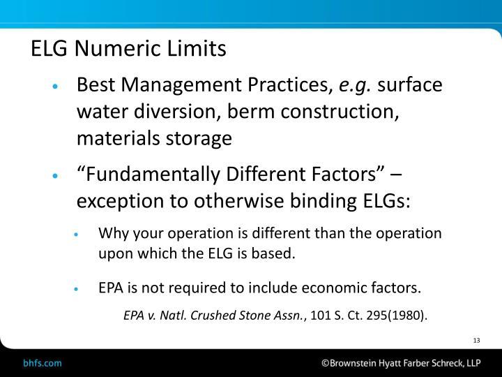 ELG Numeric Limits