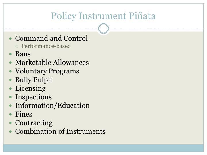 Policy Instrument Piñata