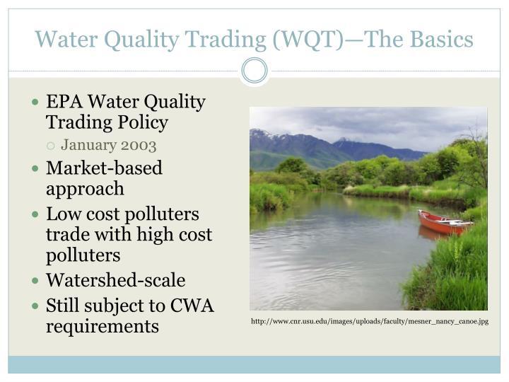 Water Quality Trading (WQT)—The Basics